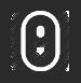 Weiße Computermaus Icon